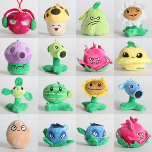 Plants vs Zombies Plush Toys Stuffed Dolls Mini Size with Keychains 10cm 4Inches
