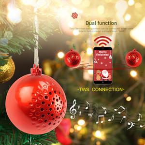 Christmas Gift Bluetooth Speaker Mini Portable Gift Sound Ball Outdoor Portable Wireless LED Light Music Center Column Bass