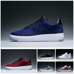 Nike Air Force 1 Flyknit Moda Uomo Scarpe Low One 1 Uomini Donne Cina casual Calzature Fly Designer Royaums Tipo Respirare Skate maglia Femme Homme 36-45