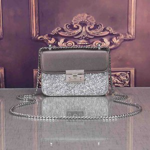 Womens Designer New Bag with The Same Small Sequin Bag Limited Chain Shoulder Diagonal Small Square Bag Fashion Luxury Sparkling