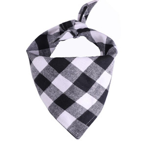 Dog Bandana Plaid Single Layer Pet Scarf Triangle Bibs Kerchief Pet Accessories Bibs for Small Medium Large Dogs Xmas Gifts ZZC4324