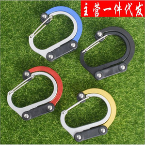20 Outdoor tactical supplies Carabiner High-quality aluminum alloy D-type quick-hanging buckle with lock key tool equipment