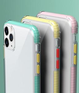 Couleur Luxe Transparent Téléphone pour l'iphone 11 pro max XR XS Max 8 7 Cadre De plus anti-collision anti-chute Housse de protection de téléphone mobile