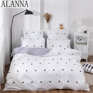 Alanna X-1004 Printed Solid bedding sets Home Bedding Set 4-7pcs High Quality Lovely Pattern with Star tree flower 1012