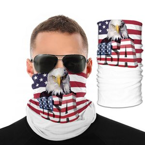 DHL 3D Print Scarf Headwear Caps USA National Flag Protective Birds Magic Face Mask Fashion Cycling America Masks DHL 3D Print Scarf He Jubp