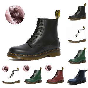 Dr Martin 2976 Erkekler Kadınlar Boot Siyah Beyaz Yeşil Mavi Kırmızı doc sansar Süet Deri Açık Kış Platformu Boots Boyutu 36-44 Soğuk