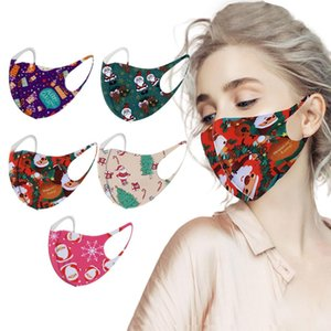 Fast Delivery Within 24 Hours Mscara 5pcs Christmas Cloth Mask Print Sun Protection Is Not A Disposable Washable Headband sqcCOT homes2007