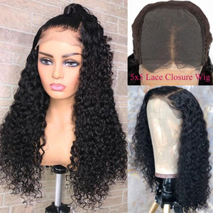 Amanda 5x5 Lace Closure Wig Brazilian Water Wave Human Hair Wigs 150 Density Lace Closure Human Hair Wigs Pre Plucked Wig