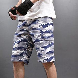 Мужчины камуфляжные шорты летние новая мода старинные высококачественные хлопчатобумажные большие размеры America Streetwear мужские повседневные шорты1