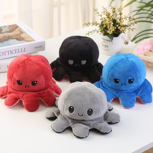 New Arrival 2021 Reversible Flip Octopus Stuffed Doll Soft Simulation Reversible Plush Toy Color Chapter Plush Doll Filled Plush Child Toy