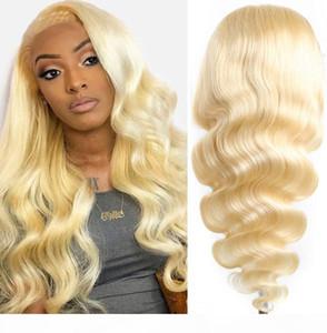 Honey Blonde Lace perruques pour femmes Mode Ombre Blonde perruques pour les femmes Brown Enracinée Perruques uk meilleur cheveux humains perruque avant de dentelle naturelle