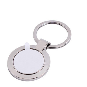 Sublimation Blank Material Keychain Keyring Personality DIY Hot Drawing Supplies Square Lock Buckle New Year Gift 50 L2