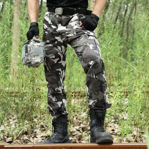 Pantalon de camouflage Cargo Pantalons Men Armée Travaux de Pantalones Combat Swat Pantalon tactique Camo Combinaisons Jogger Pantalon occasionnel
