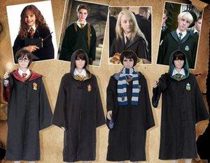 Harry Potter Cos Costume Harry Children's Adult Magic Robe Cloak Gryffindor Cos School Uniform Halloween Costumes