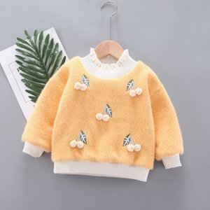 Baobaoqiu Winter Plush Thickened Sweater Warm Top Girls' Clothes 0 Baby Children's Clothing 1-3 Years Old