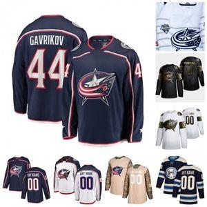 Custom Liam Foudy Matiss Kivlenieks Stefan Matteau Andrew Peeke Kevin Stenlund 2020 Hockey Jerseys Stitched