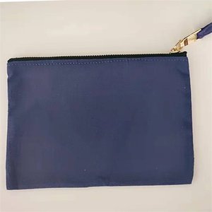 Solid Color Wallet Thick Canvas Blank Wash Make Up Wash Arrangement Clutch Bag Polychromatic Mobile Phone Storage Bags Portable New 10wya M2