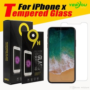 For iPhone X 10 Tempered Glass Screen Protector For Iphone 8 7S for Galaxy J3 Prime 0.33mm 2.5D Anti-shatter Paper Package