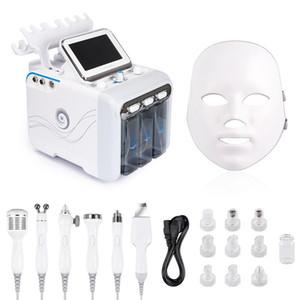 Hydrofacial dermabrasion machine à 7in1 eau microdermabrasion Peel Hydra La peau du visage beauté profonde machine de nettoyage des pores de la peau Fe expédition