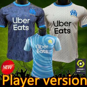 2021 Player versão Olympique de Marseille jérsei de futebol om Maillot De Pé PAYET Thauvin BENEDETTO jerseys 2021 novo jogador camisas Marselha