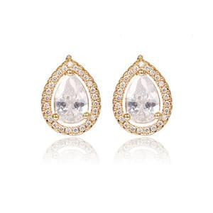 Fashion Teardrop Zircon Stud Earrings for Women Lady New Design 925 Sterling Silver Stud Earring High Quality Jewelry Gifts