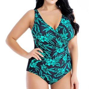 Mayo 2019 Plus Size Mayo Kadınlar Büyük Beden Mayo One Piece Yüzme Suit Beachwear Push Up 4XL 6XL 8XL