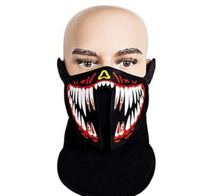 Designer Mask Christmas Halloween Face Mask Designer Led Luminous Masks El Cold Light Motorcycle Luminous Facemask Cos bbytIB soif