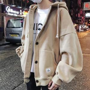 Hoodies Mens Plus Size Thickening Hoody Hoodie Men Sweatshirts Streetwear Autumn Winter Harajuku Clothes Korean Fashion Tops LJ200918