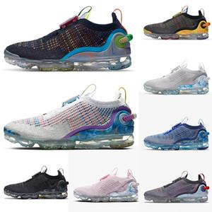 Vapourmax 2020 zapatos corrientes FK mosca formadores de punto Facilidad Tie Pure Platinum Triple Negro Blanco Crema Hombres Mujeres Deportes zapatillas de deporte Tamaño US5.5-11