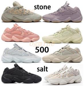enfant boost Kanye West 500 Çöl Sıçan Koşu Ayakkabıları Kemik Beyaz Yardımcı Siyah Taş Yumuşak Vizyon Spor Sneakers Allık Ay Sarı Tuz Trainers Çizmeler