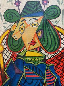 PABLO PICASSO ESPAÑOLA ARTISTA Decoración pintado a mano de la impresión de HD pintura al óleo sobre lienzo arte de la pared de la lona representa 201115