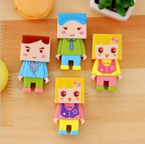 DIY Toy apontador de lápis w / Borracha Estudantes Award presente manual Lápis Afiadoras coloridos Buracos Dupla destacável de plástico Sharpener
