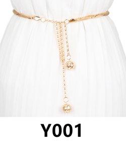 Y001-Y005 vintage women girl waist belt thanksgiving day