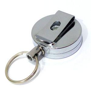 4CM المعادن ID دقيق بطاقة حامل شارة بكرة الإرتداد حزام كليب دائم قابل للسحب سحب سلسلة بكرة EEC2869