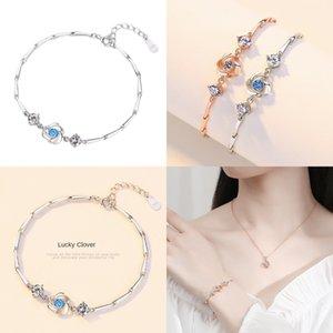 rotonda gioielli di UMB0N Ssterling silverwomen modo delle donne braccialetto minimalista tallone withhigh-end