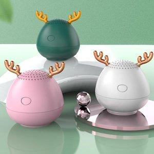 wholesale 100 pcs cute Antlers Speakers Bluetooth Speaker Christmas Gift Mini Wireless Speaker TF Card USB Subwoofer Portable Girl Gift