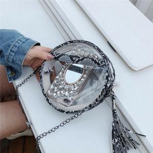 Women Transparent Handbag Shoulder Bag Clear Leopard Purse Clutch Plastic Tote Handbag Hot Sellings Drop Shipping