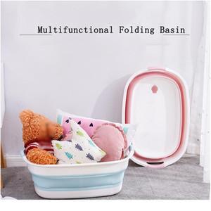 Portable Newborn Baby Folding Bath Tub Baby Swim Tubs Foldable Washing Non-slip Bathtub Security Spa Children Kids bbykZF