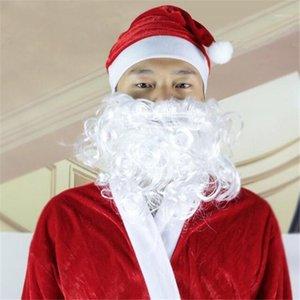 Xmas Santa Claus Parrucca riccia e barba per la performance di Natale creativo Divertenti puntelli Barba Natale decorativo NEW1