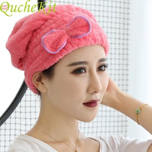 6-color microfiber hat; solid hair, quick drying, women's and girls' hat, bath towel, bath towel