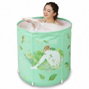 Double Inflatable Bathtub Large Adult Folding Bath Bucket Bath Bucket Of Adult Tub 16C9#