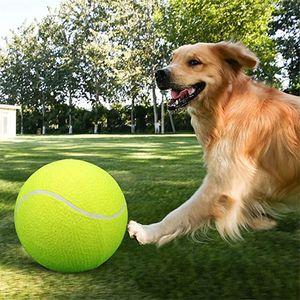 24cm 개 장난감은 큰 개를위한 개 볼 실행기 풍선 테니스 공 던지는 Chucker 볼 훈련 애완 동물 개 장난감 6PCS 씹어 플레이