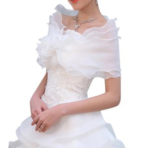 Ivory Red Tulle Shrug Wedding Tulle Capelet Bridal Wrap Girls Embroidered Lace Shawl for Dress Party