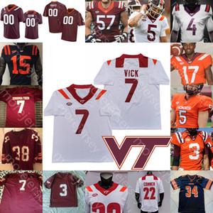 Custom Virginia Tech Hokies Jersey Jersey NCAA College Ryan Willis McClease Conner Damon Hazelton Ashby Belmar Jarrod Hewitt Pollard roi