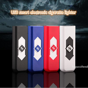 USB Electronic Rechargeable Cigarette Lighters Battery Cigarettes Lighter Windproof Electronic Cigarette Lighters CCA11665 600pcs