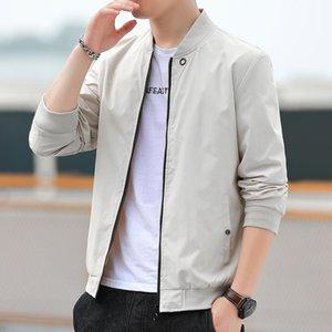 İlkbahar ve Sonbahar Yeni Beyzbol Yaka Kore Ince Trend Uçan Suit Ince Dış Ceket Erkek Ceket