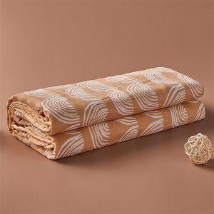 HappyFlute 4LAYERS MUSLIN 100% Baumwolle Farbkante Wrapple Weiche Warp Infant Neugeborene Babydecken Y201001