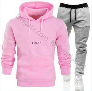 Black Pink sweatsuit Designer mens tracksuit Women hoodies+pants Men Clothing Sweatshirt Pullover Casual Tennis Sport Tracksuits Sweat Suits