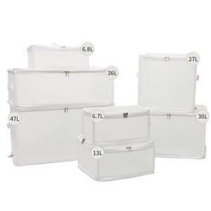 Aufbewahrungsboxen Bins Transparent wasserdicht Kunststoff Aufbewahrungsbox Organizer Box Organizador Faltbare Tragbare Reißverschlussbox Großhandel Q0120
