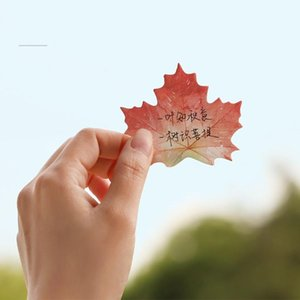 6 Pcs Leaf Collection Sticky Notes Lotus Maple Leaves Memo Pad Bookmark Stickers Office School Supplies Material Escolar Fm005 sqcjhm